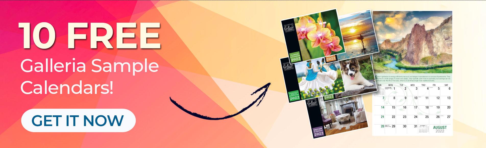 10 Free Galleria Sample Calendars