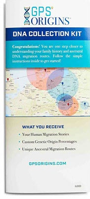 GPS Origins DNA Collection Kit Brochure Closed