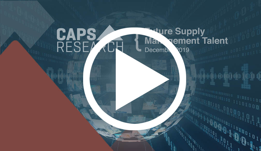 Future Supply Management Talent research video